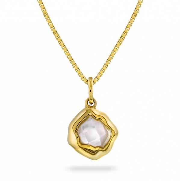 Smykke i sølv med perlemor